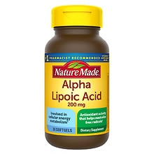 Nature Made Alpha Lipoic Acid 200mg, Softgels