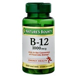 Nature's Bounty Vitamin B-12 1000mcg Tablets, Value Size