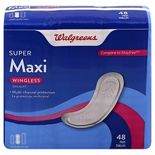 Walgreens Maxi Pads, Super Unscented