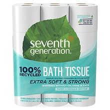 Seventh Generation Bathroom Tissue, 300ct, 2 ply