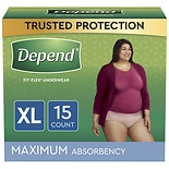 Depend for Women Underwear, Maximum Absorbency Extra Large