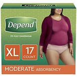 Depend for Women Underwear, Moderate Absorbency Extra Large