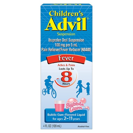 Children's Advil Ibuprofen Fever Reducer/Pain Reliever Oral Suspension Bubble Gum
