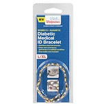 Walgreens Diabetic Medical ID Bracelet S/M