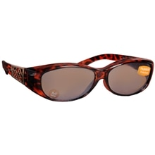 Foster Grant Solar Shield Fits Over Plastic Sunglasses Size M Tortoise