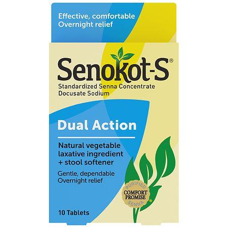 Senokot S Natural Vegetable Laxative Plus Stool Softener