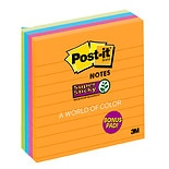 Post-it Super Sticky Notes 3 Pack Assorted