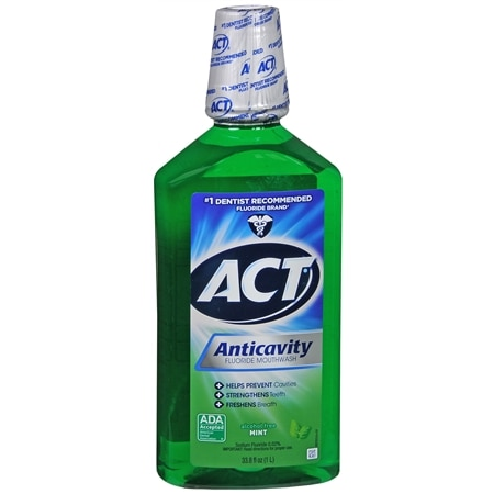 ACT Anticavity Fluoride Mouthwash Mint