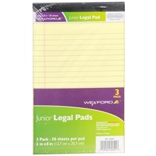 Wexford Junior Legal Pads Assorted