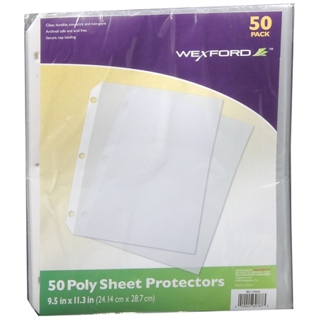 Wexford Poly Sheet Protectors Clear
