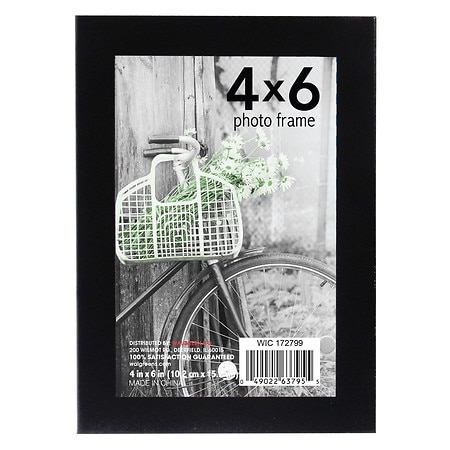 Home Elements Metal Picture Frame 4 x 6 in Assorted Black & Silver