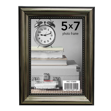 Home Elements Picture Frame 5 inch x 7 inch Pewter