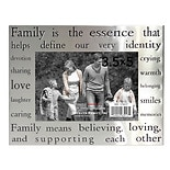 Home Elements Picture Frame 3.5 inch x 5 inch Silver