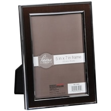 Home Elements Picture Frame 5 inch x 7 inch Brown/Silver