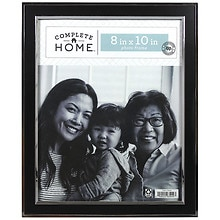 Home Elements Picture Frame 8 inch x 10 inch Black/Silver