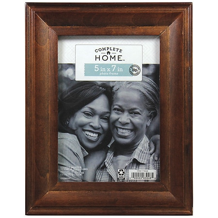 Home Elements Picture Frame 5 inch x 7 inch Brown