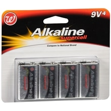 Walgreens Alkaline Supercell Batteries 9 V