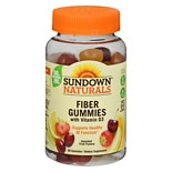 Sundown Naturals Fiber Gummies with Vitamin D3 Orange