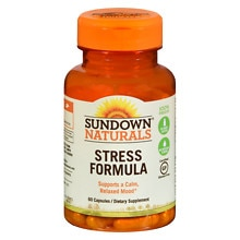 Sundown Naturals L-Theanine Stress Formula, Capsules