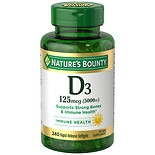 Nature's Bounty Maximum Strength Vitamin D3 5000iu, Softgels