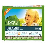 Seventh Generation Free & Clear Baby Diapers, Value Pack Size 4 (22-37 lbs)