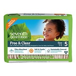 Seventh Generation Free & Clear Baby Diapers, Value Pack Size 5 (27+ lbs)