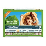 Seventh Generation Free & Clear Baby Diapers, Value Pack Size 6 (35+ lbs)