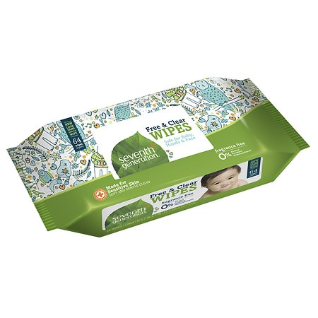 Seventh Generation Thick n' Strong Baby Wipes Refill Free & Clear,6 pk