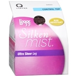 L'eggs Silken Mist Control Top Ultra Sheer Leg Hosiery Q Coffee