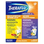 TheraFlu Multi-Symptom with Lipton Flavors & Nighttime Severe Cold & Cough Combo Pack Green Tea & Honey Lemon