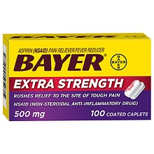 Bayer Extra Strength Aspirin 500 mg Coated Caplets