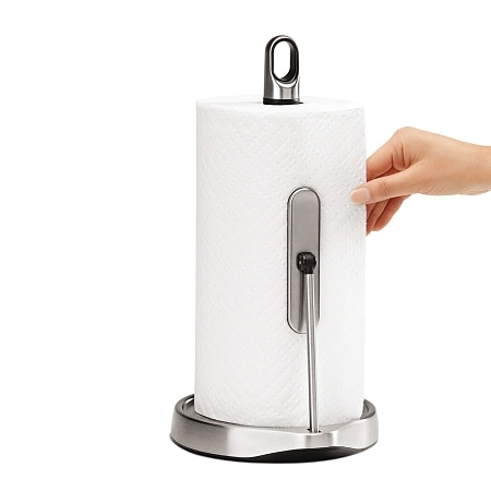 simplehuman Tension Arm Paper Towel Holder Stainless Steel