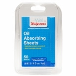 Walgreens Oil Absorbing Sheets