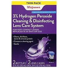 Walgreens Sterile Hydrogen Peroxide Cleaning & Disinfecting Lens Care System