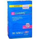 Walgreens Certainty Women's Underwear Max Absorbency Medium