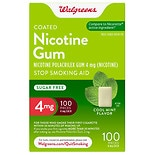 Walgreens Coated Nicotine Polacrilex Gum 4 mg Cool Mint