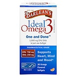 Barlean's Organic Oils Ideal Omega3 1,000mg EPA/DHA, Softgels Orange