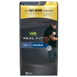 Depend Real Fit for Men Briefs Maximum Absorbency Gray L/XL
