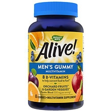 Nature's Way Alive! Men's Multi-Vitamin/Mineral Supplement Gummies Fruit