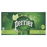 Perrier Sparkling Natural Mineral Water 10 Pack 8.45 oz Cans Lime