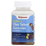 Walgreens Fiber Select Children's Fiber Supplement Gummies Green Apple
