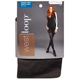 West Loop Sheer-to-Waist Opaque Tights Size XL XL