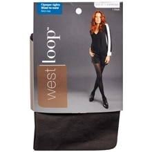 West Loop Sheer To Waist Opaque Tights XL Espresso