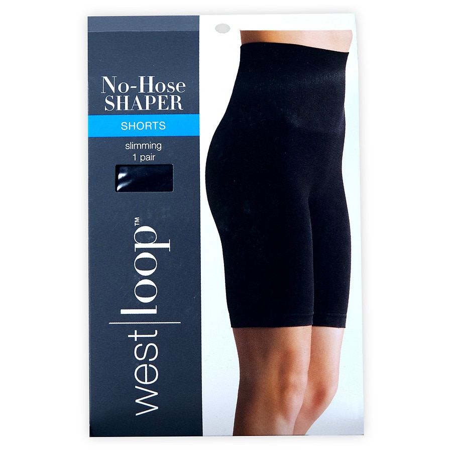 west loop luxe no hose shaper high waist to mid thigh l black walgreens. Black Bedroom Furniture Sets. Home Design Ideas