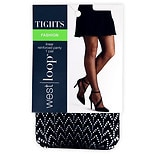 West Loop Reinforced Panty Fashion Tights S/M Black