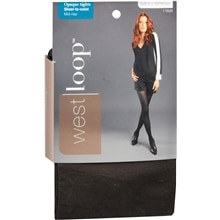 West Loop Sheer To Waist Opaque Tights S Espresso