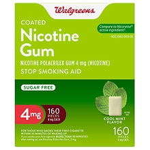 Walgreens Coated Nicotine Gum 4mg Cool Mint