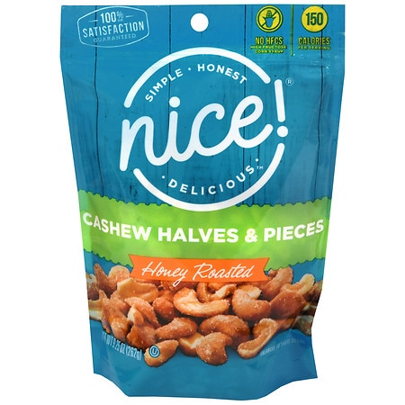 Nice! Cashew Halves and Pieces Honey Roasted