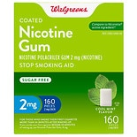 Walgreens Coated Nicotine Gum 2mg Cool Mint