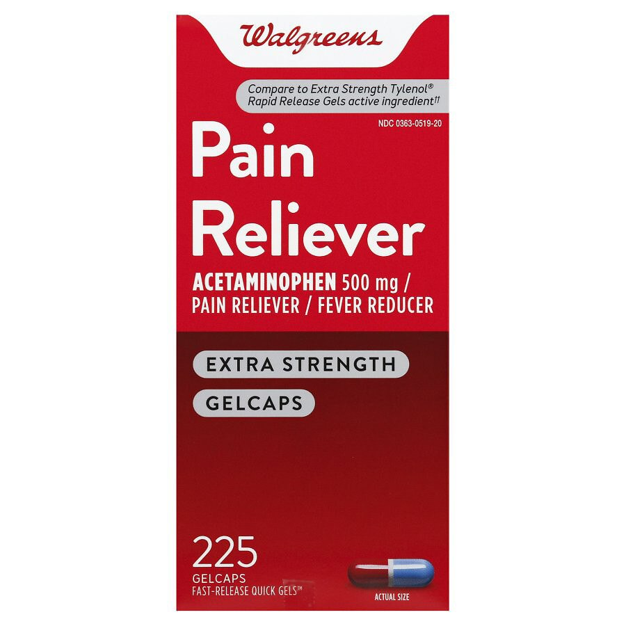 Walgreens pain reliever quick gels